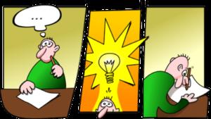 Idee, erneuerung, Patent, Patentamt